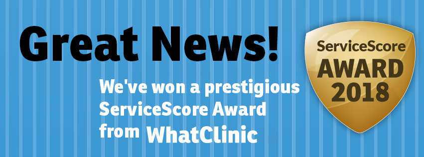 Hilton Skin Clinics Wins Award for Great Customer Service